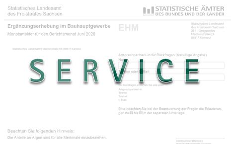 Das Bild zeigt das Wort Service.